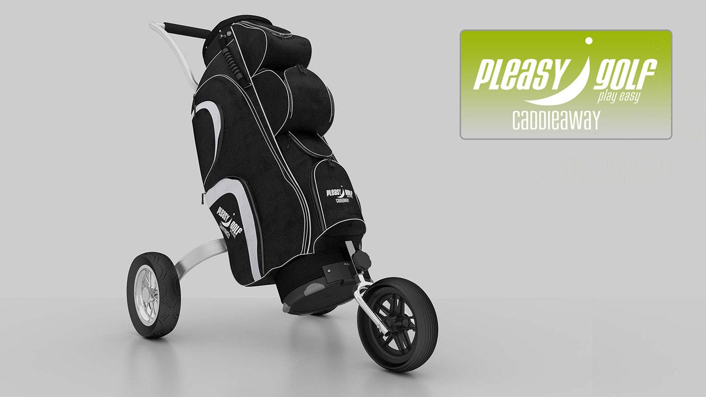 Pleasy Golf Golfbag grey
