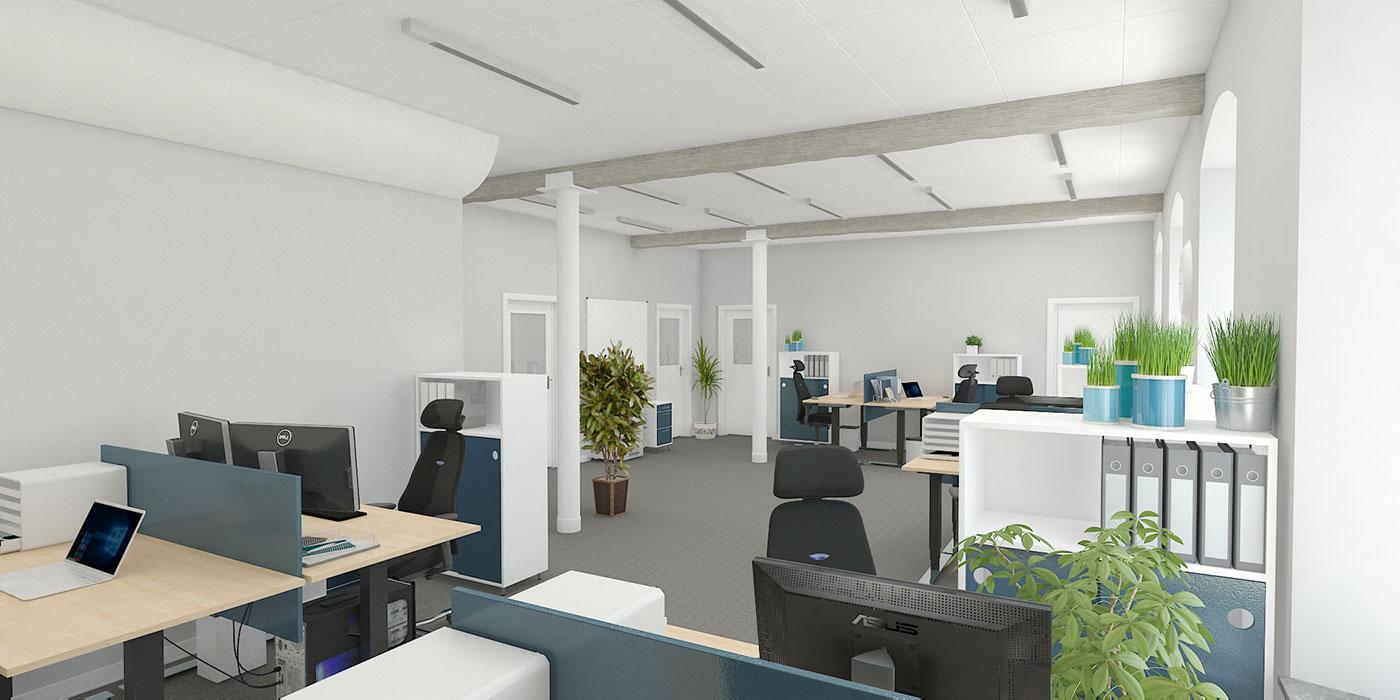 Open Concept Office Camera 1
