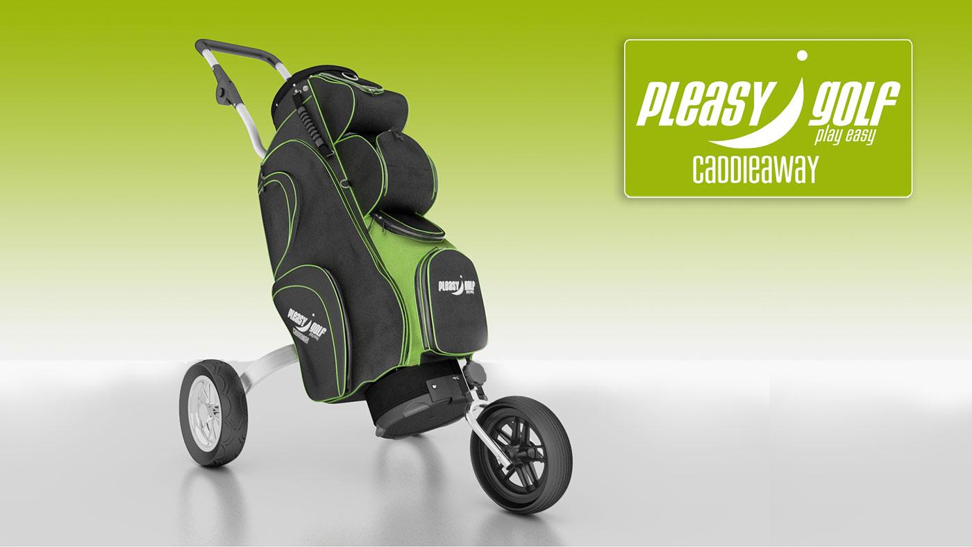 Pleasy Golf Golfbag green 2