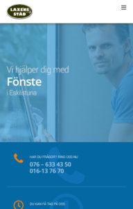 Portfolio Laxéns Städ & Fönsterputs front mobile